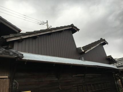 倉庫外壁補修