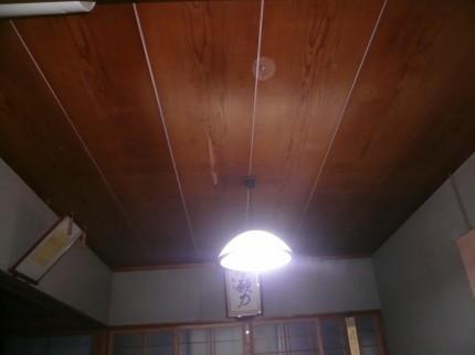 天井張替前