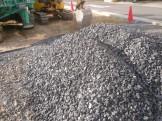 地盤補強用の砕石