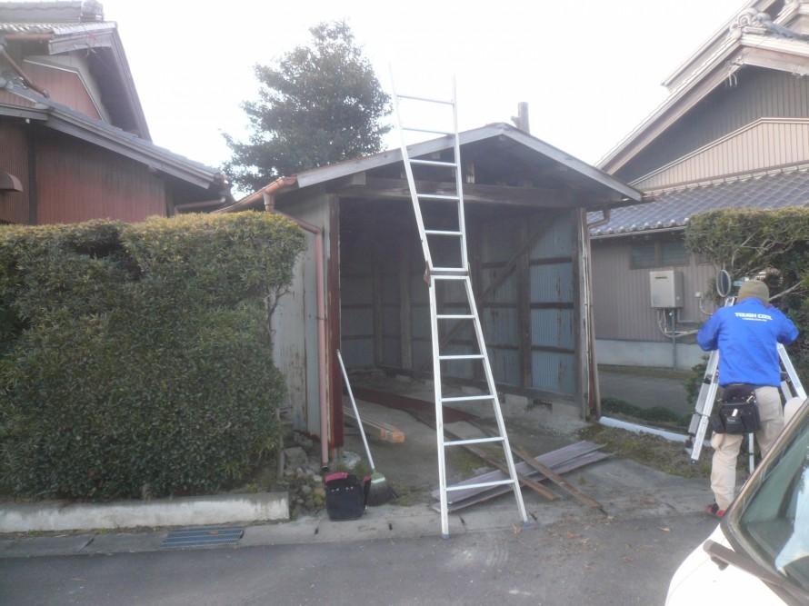 車庫屋根張替