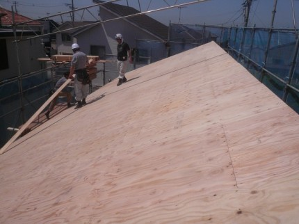 屋根伏せ工程